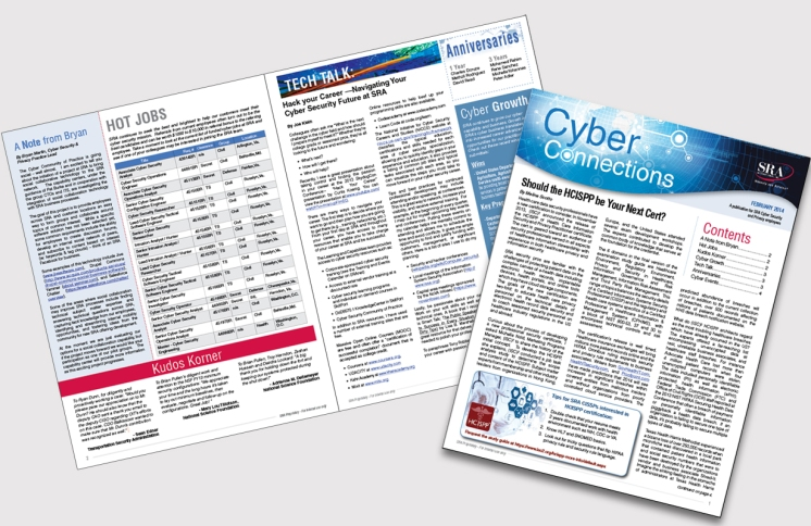A sample of the Cyber Connections Newsletter.
