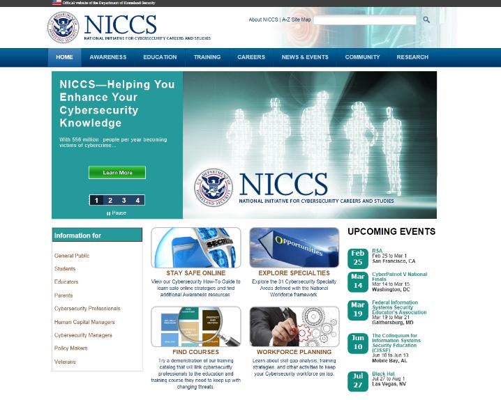 NICCS home page